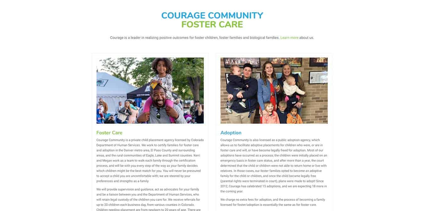Courage Community Foster Care