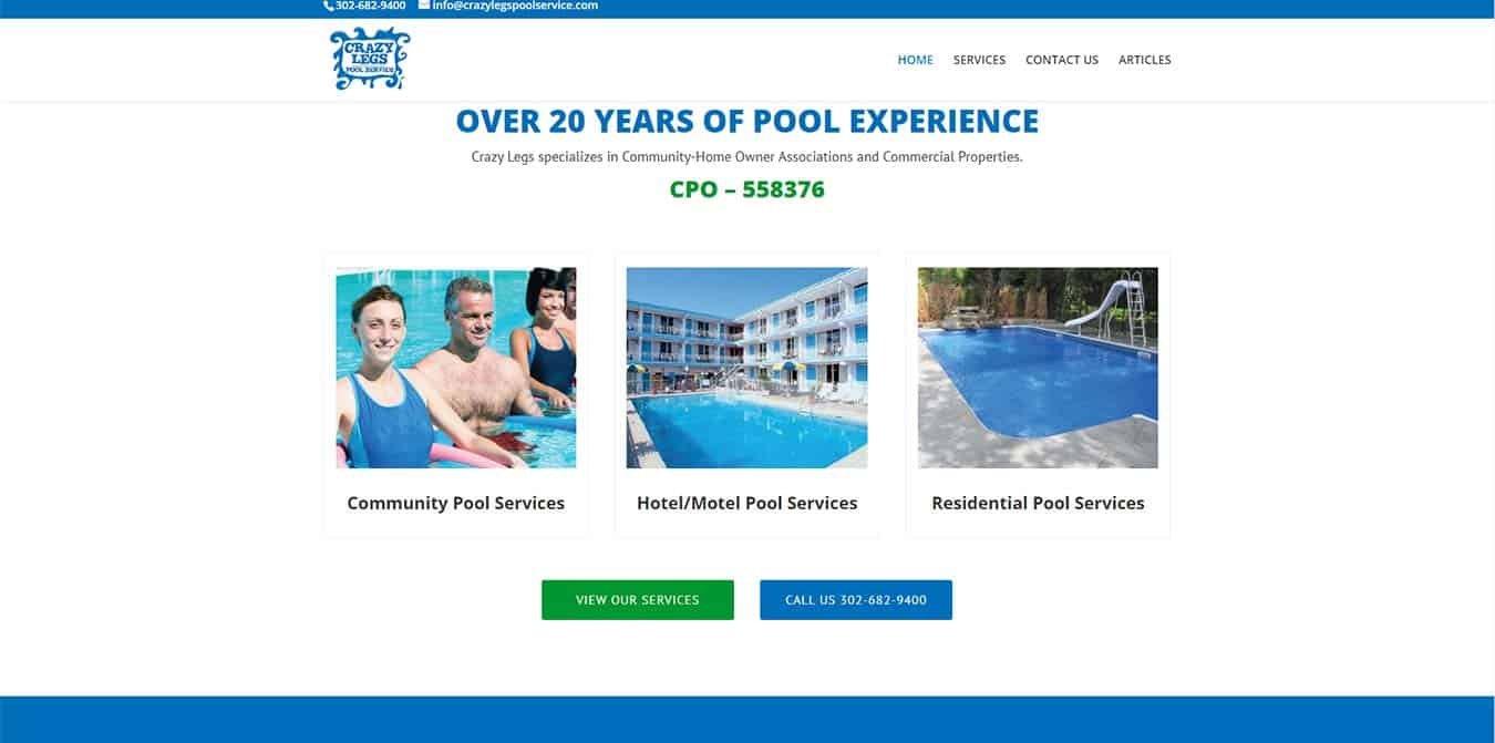 Crazy Legs Pool Service