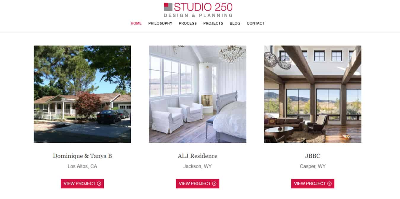 Studio 250 featured designs